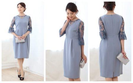 dcc1627abbf4d お袖とデコルテのデザインが斬新なので、ドレスのラインはシンプルなIライン。そのマッチングが他のドレスとは違った上品さを印象付けるドレスです。