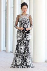 マザードレス|RMD-033:Faye Won(フェイ・ウォン)~【インポート】ブラック×ホワイト刺繍ModeフェミニンDress