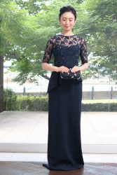 マザードレス|RMD-035:Emillia Carter(エミリア・カーター)~【インポート】ネイビービジュー刺繍レース×ペプラムDress
